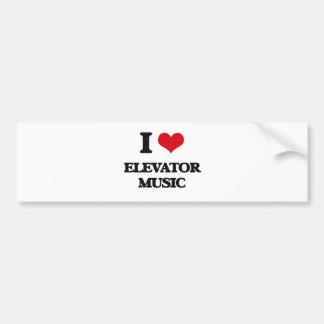 Amo música del elevador pegatina para coche