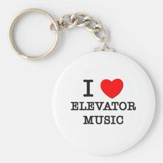 Amo música del elevador llavero redondo tipo pin