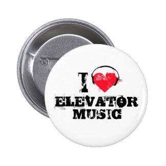 Amo música del elevador pin redondo 5 cm