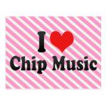 Amo música del microprocesador postales