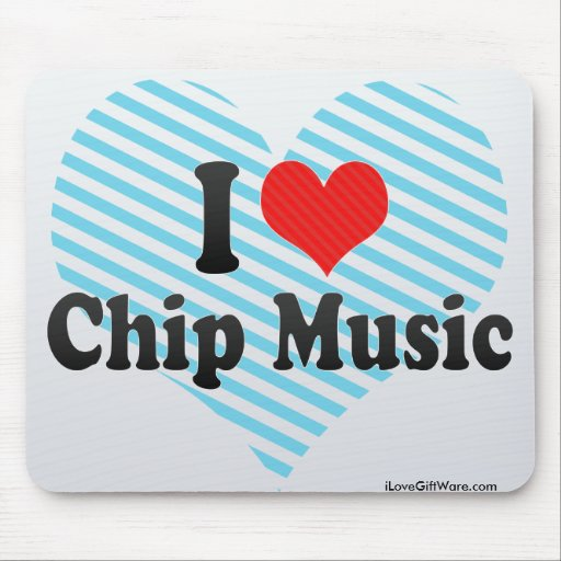 Amo música del microprocesador alfombrillas de ratón