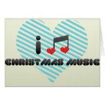 Amo música del navidad felicitación