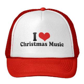 Amo música del navidad gorro de camionero