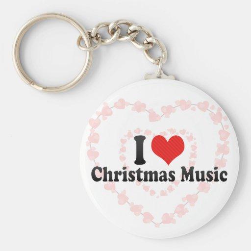 Amo música del navidad llavero personalizado