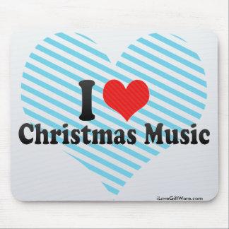 Amo música del navidad alfombrilla de ratón