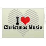 Amo música del navidad tarjeta