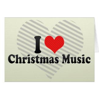 Amo música del navidad tarjeta de felicitación