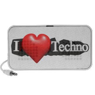 Amo música del techno laptop altavoz