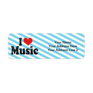 Amo música etiqueta de remite