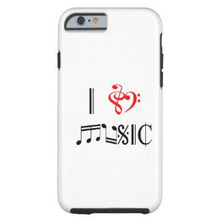 Amo música funda para iPhone 6 tough