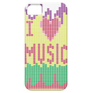 Amo música iPhone 5 protectores