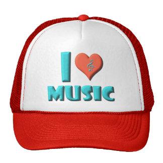 Amo música gorras de camionero