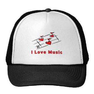 Amo música gorros bordados