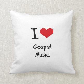 Amo música gospel cojin