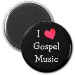 Amo música gospel iman de nevera