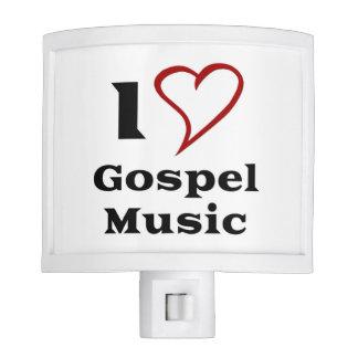 Amo música gospel lámpara de noche