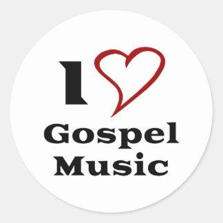 Amo música gospel pegatina redonda