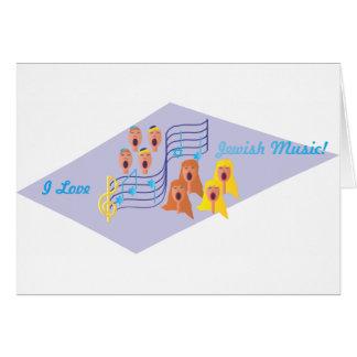 Amo música judía tarjeta de felicitación