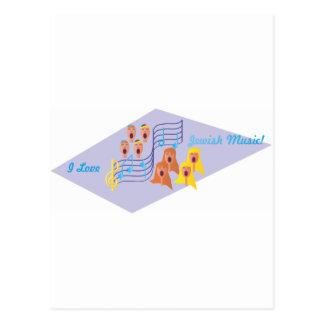 Amo música judía tarjetas postales