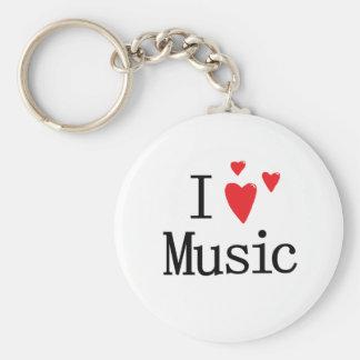 Amo música llavero redondo tipo pin