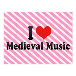 Amo música medieval tarjetas postales