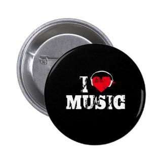 Amo música pin redondo 5 cm