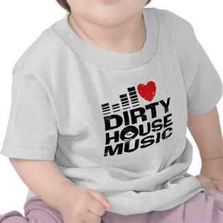 Amo música sucia de la casa camiseta