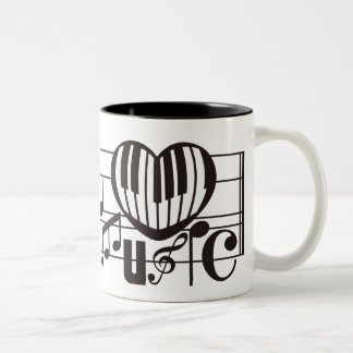 AMO MÚSICA TAZAS DE CAFÉ