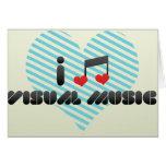 Amo música visual tarjetón