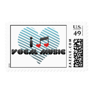 Amo música vocal sello postal