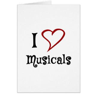 Amo Musicals Tarjeta De Felicitación
