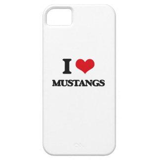 Amo mustangos iPhone 5 carcasas