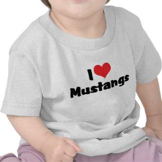 Amo mustangos camisetas