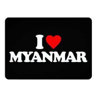 AMO MYANMAR INVITACIÓN 12,7 X 17,8 CM