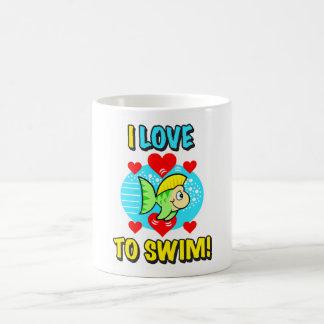 ¡Amo nadar! Drinkware Tazas De Café