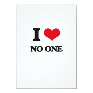 Amo nadie invitación 12,7 x 17,8 cm