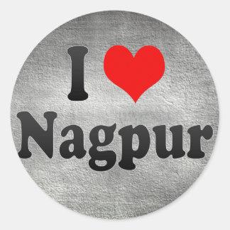Amo Nagpur, la India. Mera Pyar Nagpur, la India Pegatina Redonda
