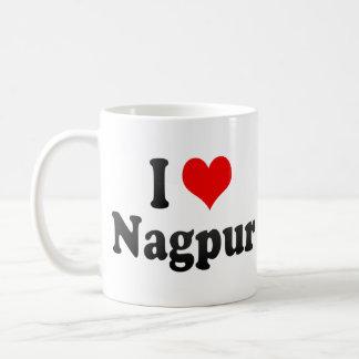 Amo Nagpur, la India. Mera Pyar Nagpur, la India Taza Básica Blanca