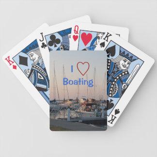 Amo naipes del canotaje barajas de cartas