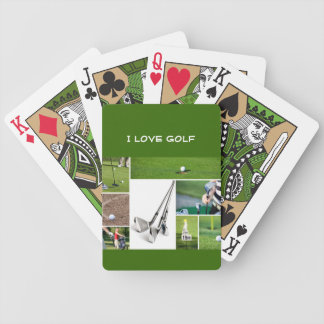 Amo naipes del golf barajas de cartas