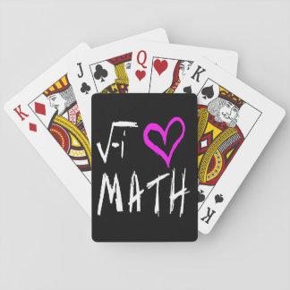 Amo naipes del ratón del tote de la matemáticas