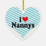 Amo Nannys Ornamento Para Arbol De Navidad