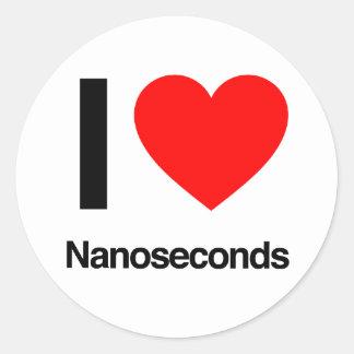 amo nanosegundos pegatinas redondas