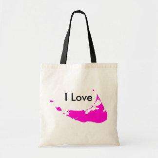 Amo Nantucket en tote rosado Bolsa