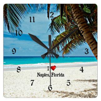 Amo Nápoles, la Florida Reloj Cuadrado