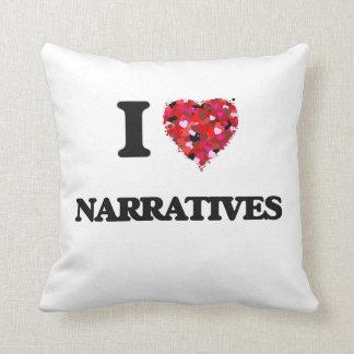 Amo narrativas cojines