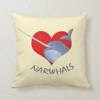 Amo Narwhals Almohadas