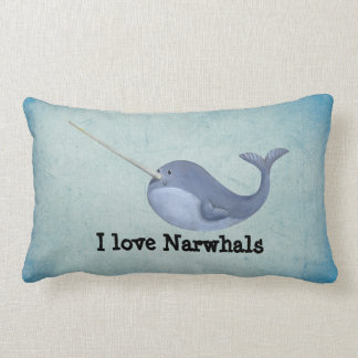 Amo Narwhals Cojines