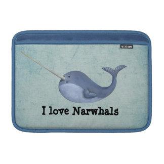 Amo Narwhals Funda MacBook