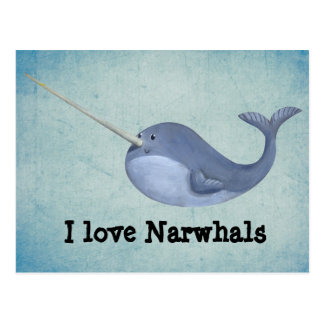 Amo Narwhals Postales